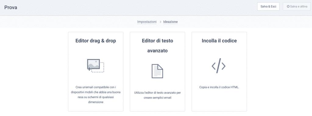 SendInBlue editor