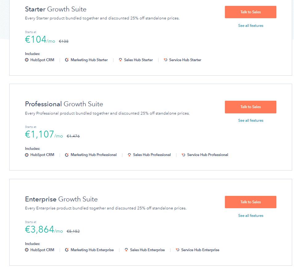 HubSpo prezzi