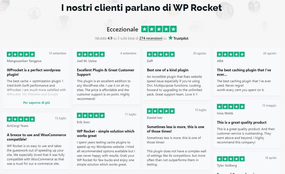 WP Rocket Opinioni