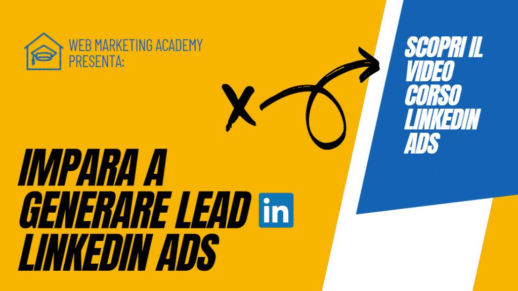 Banner Video Corso Linkedin Ads