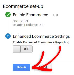 Abilitare il tracciamento dell'e-commerce in Google Analytics
