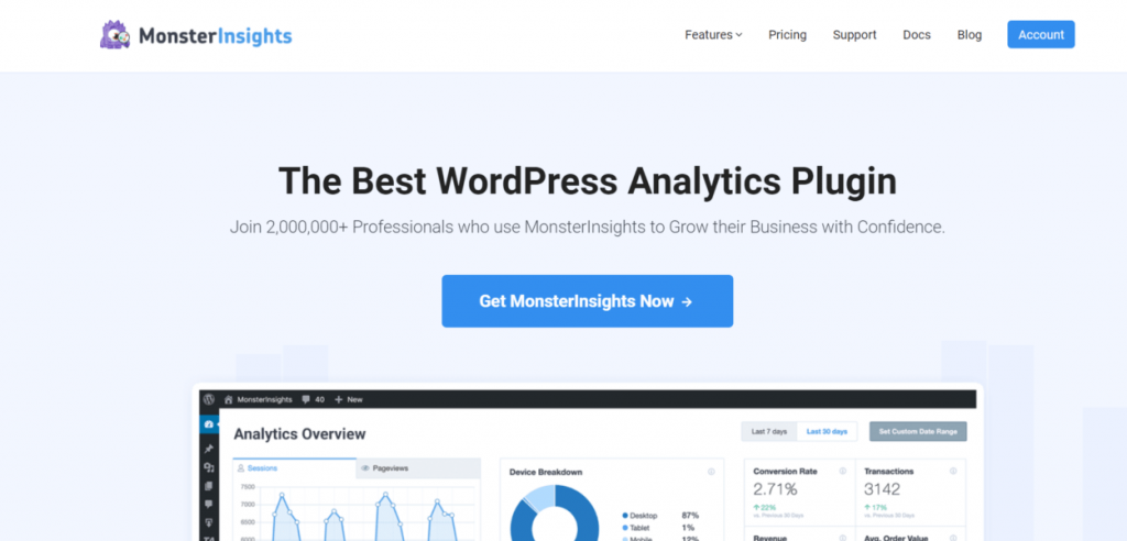 Installare MonsterInsights WordPress Plugin