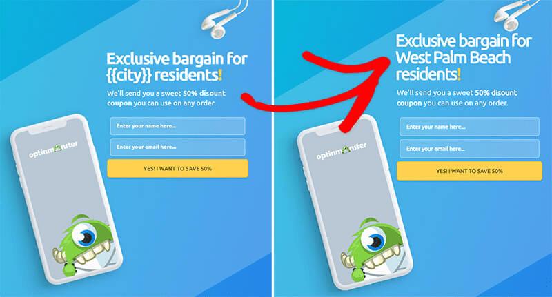 OptinMonster personalizzazione attributo smart tag