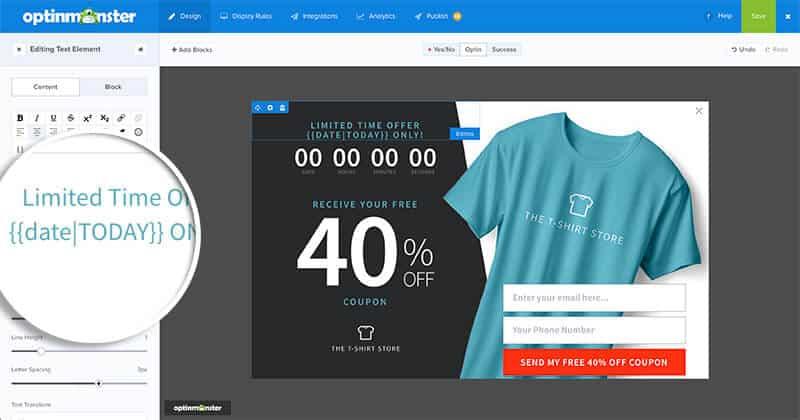OptinMonster personalizzazione ecommerce smart tag