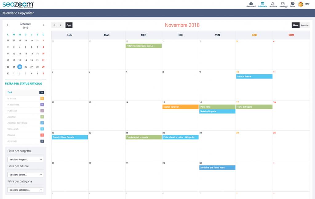 Calendario copywriter SeoZoom