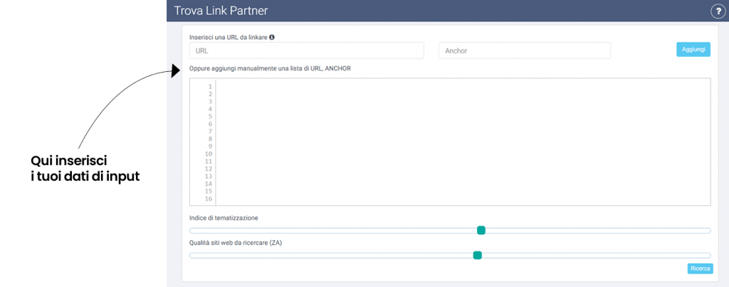 Trova link partner SeoZoom