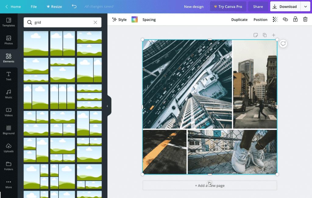 Canva Pro Design and Photo Grids