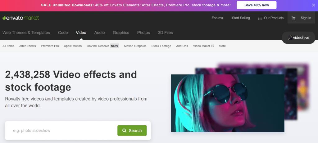 Envato Market Effetti video e filmati d'archivio