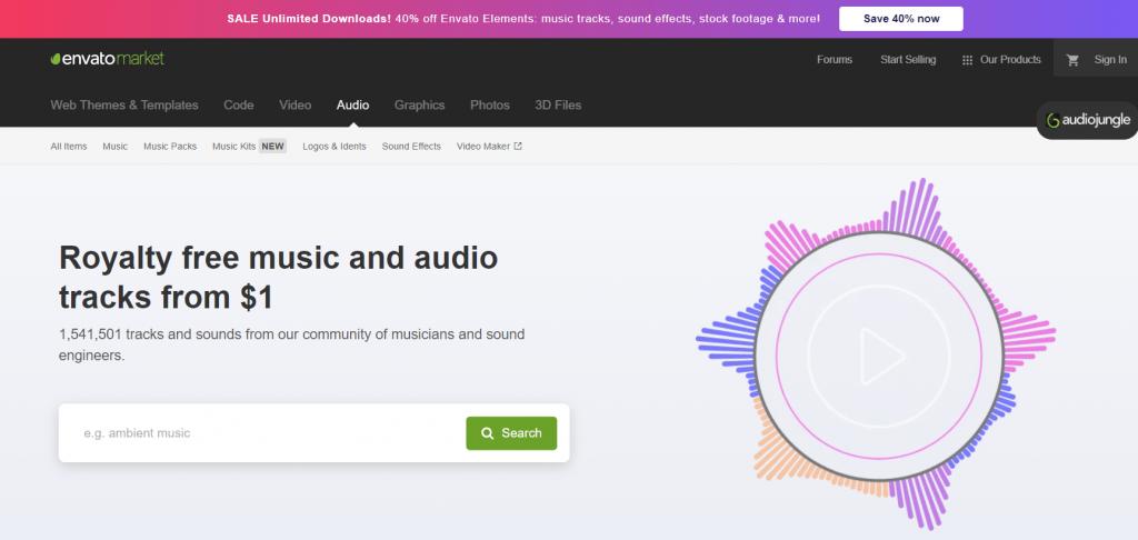 Envato Market Royalty free music ed effetti sonori
