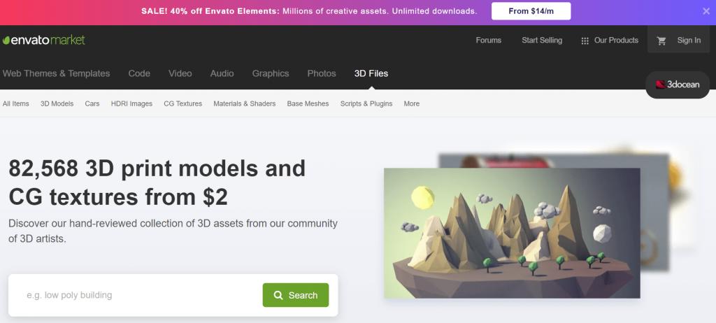 Envato Market 3D models e CG textures