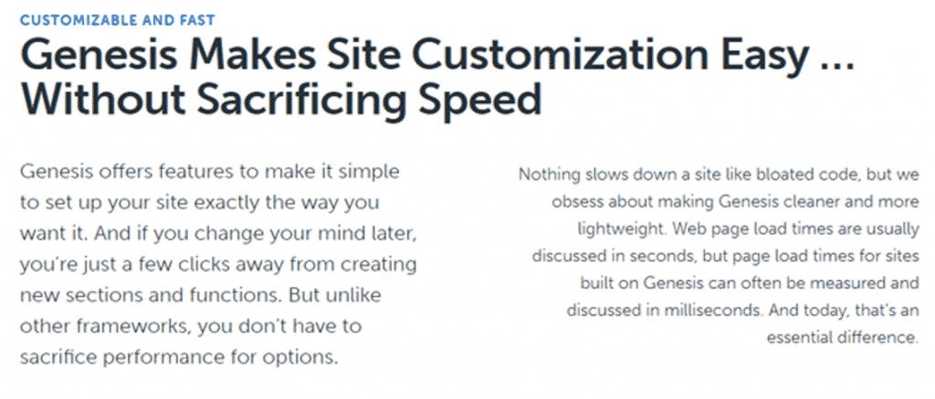 Genesis Framework Opzioni di personalizzazione
