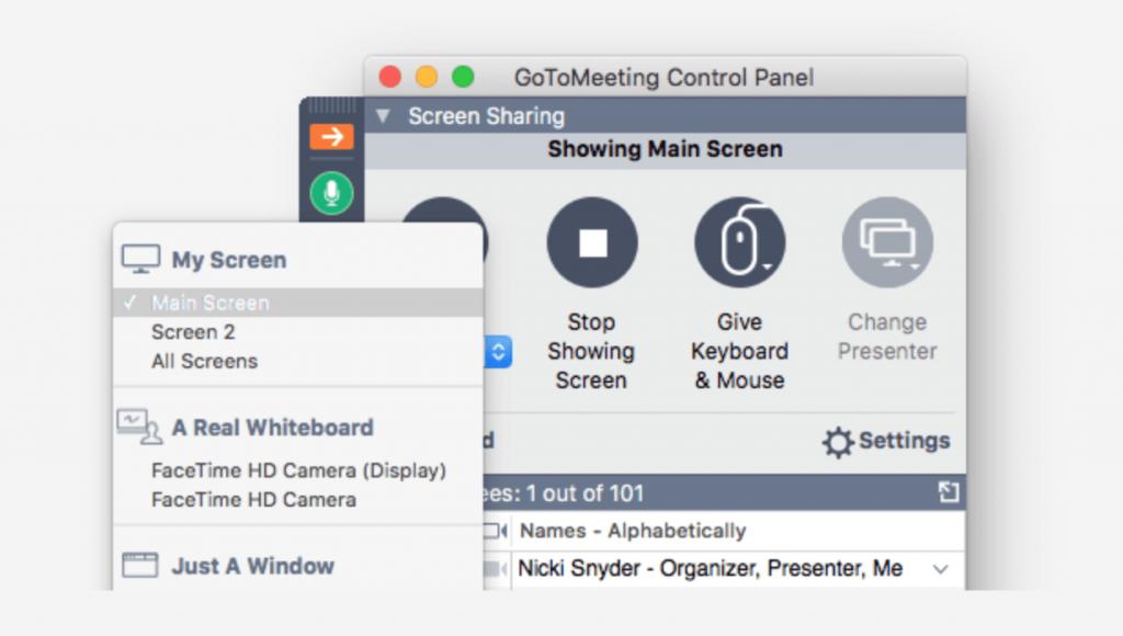 GoToMeeting Condivisione dello schermo