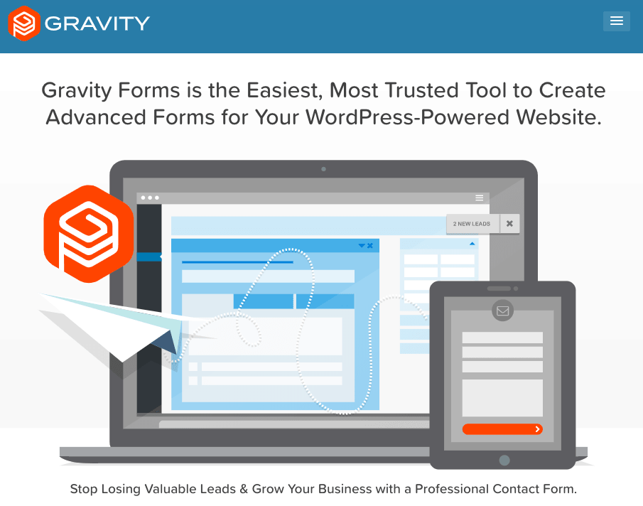 Gravity Forms homepage