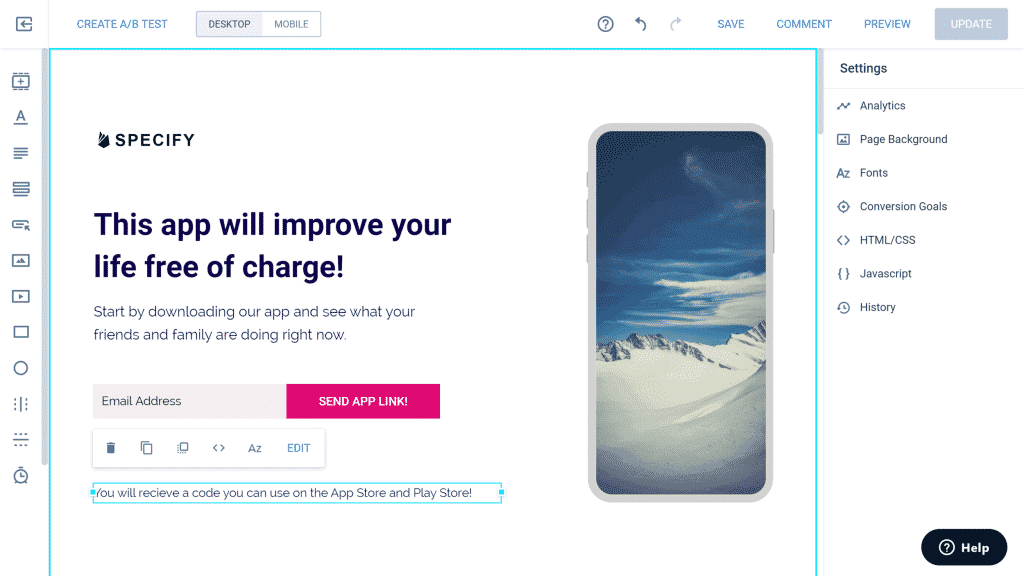 Instapage Drag-and-drop Landing Page Editor