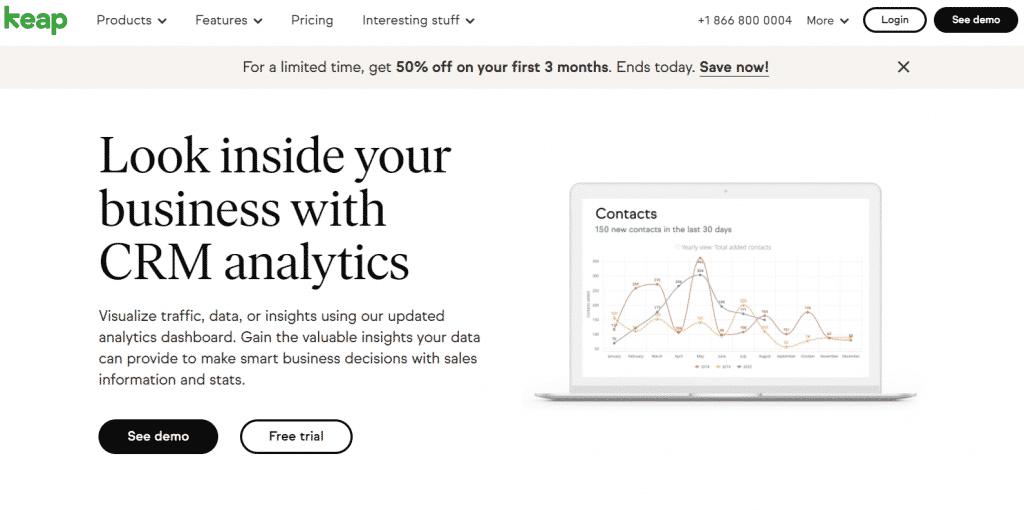 Keap InfusionSoft Reporting e Analytics