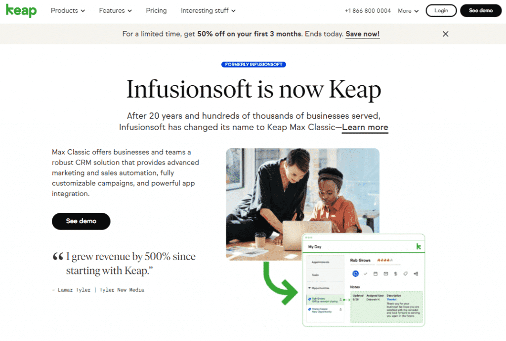 Keap Infusionsoft Max Classic