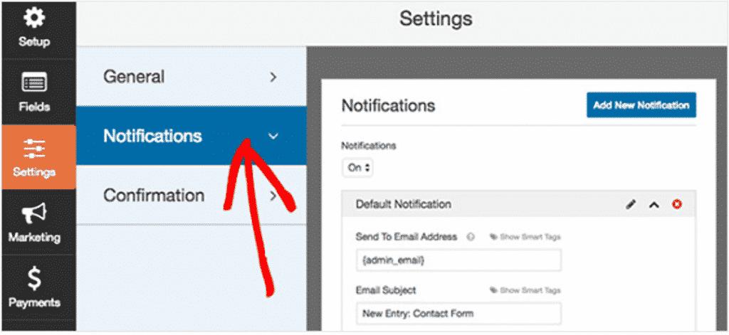 Come Collegare WPForms a Mail Chimp in WordPress Configura le notifiche del modulo di iscrizione