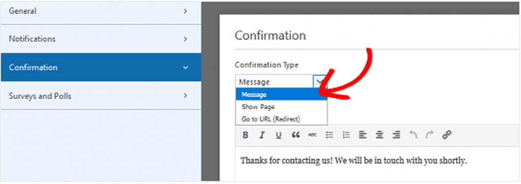 Come Collegare WPForms a Mail Chimp in WordPress Configurare le conferme del modulo di iscrizione
