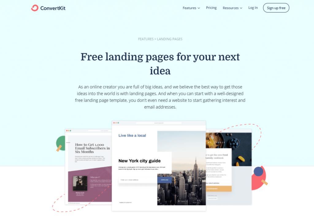 ConvertKit Landing page