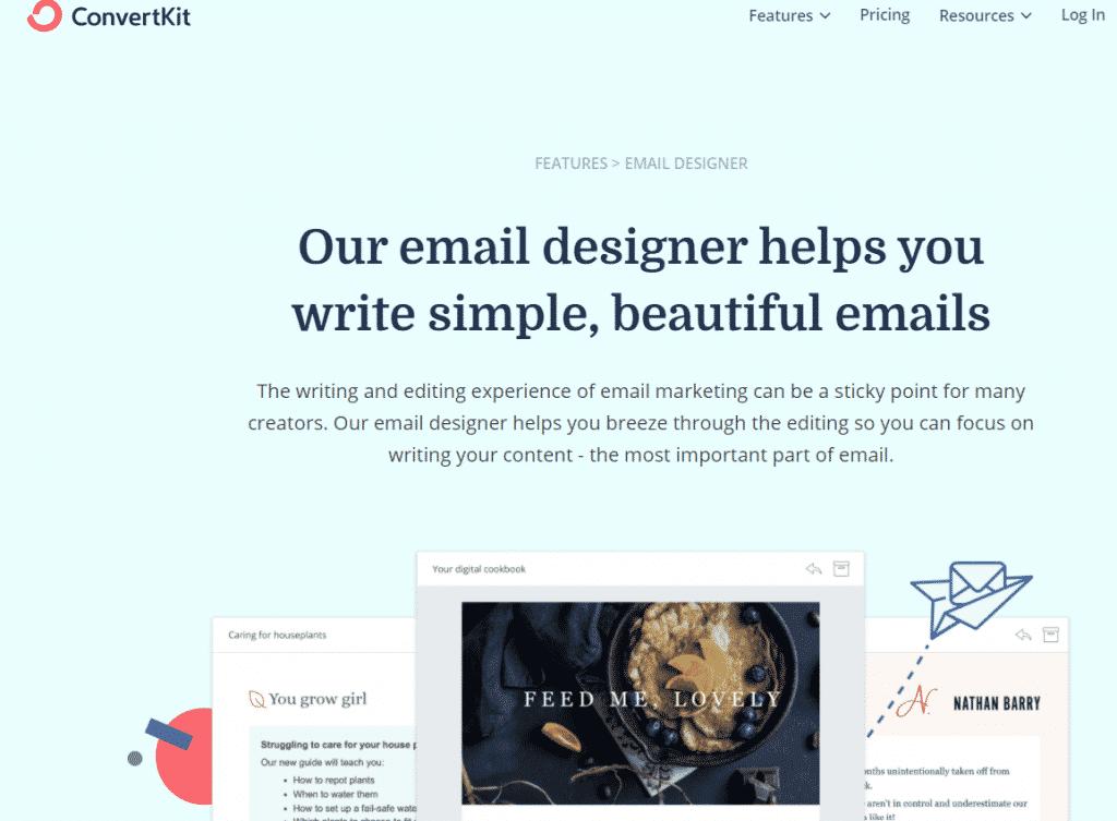 ConvertKit Email designer