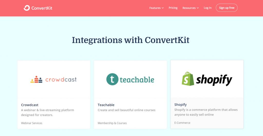 ConvertKit Integrazioni