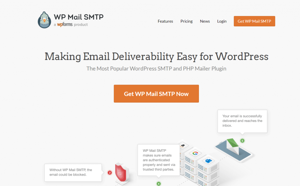 WP Mail SMTP homepage
